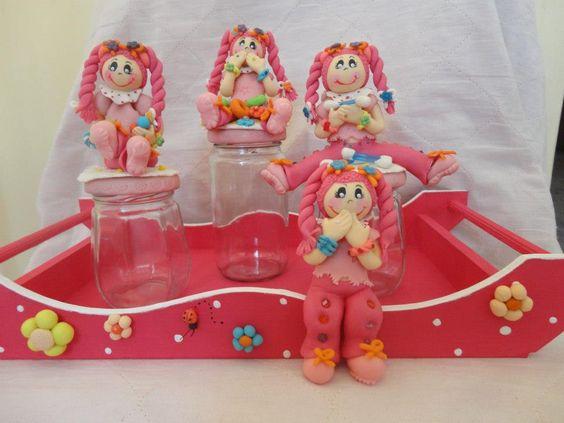 Ceramic figurine jars