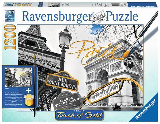 Ravensburger Puzzle - Goldenes Paris - 1200 Teile