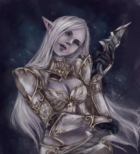 Lineage 2 Dark elf by DrearyBurn