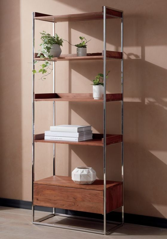 Brace Natural Wood Bookcase In 2020 Wood Bookcase