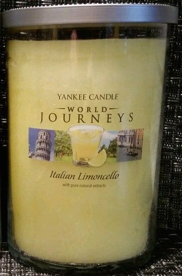 Italian Limoncello (22oz large tumbler) Yankee Candle World Journeys Collection.