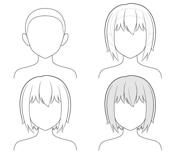 Hướng dẫn vẽ các kiểu tóc nữ thời trang anime manga