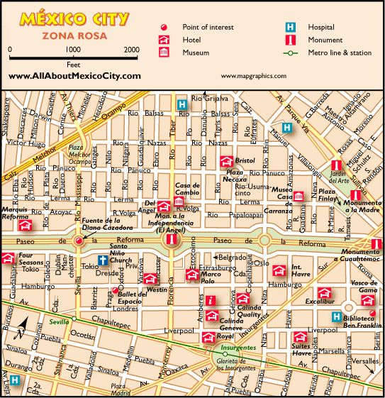 awesome Map of Mexico City Tourist Travelquaz – Tourist Map of Mexico City
