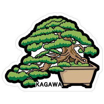 gotochi postcard bonsai pin kagawa