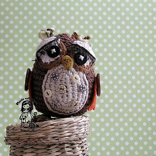 Ravelry: Owl pattern by Vendula Maderska: Knit And Crochet, Crocheting Patterns, Owls Crochet, Crochet Amigurumi, Crochet Owls, Knit Owls, Crochet Patterns, Owl Patterns, Amigurumi Patterns