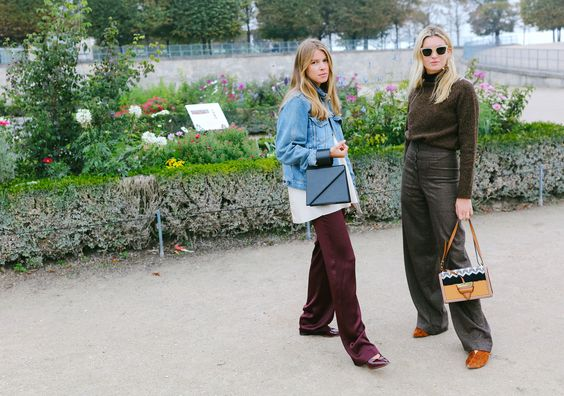 Monica Ainley and Camille Charrière with a Loewe bag
