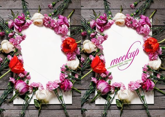 Flowers Mockup on Wood Board. Wedding Fonts. $8.00