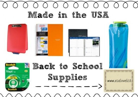 Back to School Supplies that are Made in the USA - leading off is the Dexas Slimcase! Great way to stay colorfully organized!