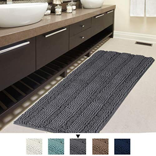 H Versailtex Bath Rug Runner 47 X 17 Large And Luxury G Https Www Amazon Com Dp B07ds583h6 Ref Cm Sw R P Bath Runner Rugs Bathroom Rugs Striped Bath Rug