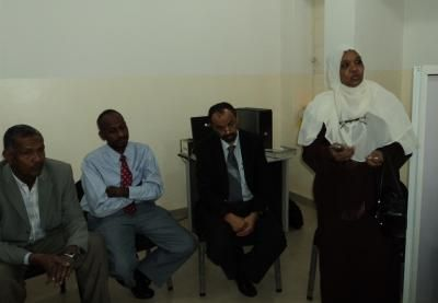 (on left) Dr. Omer Esawi, Head of Sudan Association for Libraries and Information.