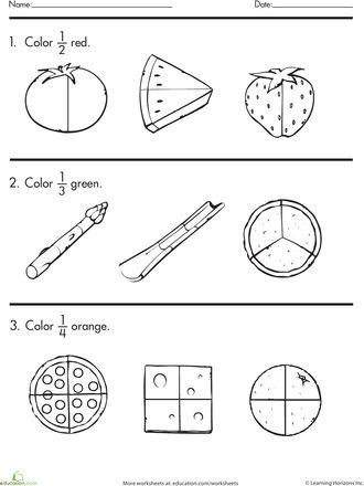 fractions worksheets and coloring on pinterest. Black Bedroom Furniture Sets. Home Design Ideas