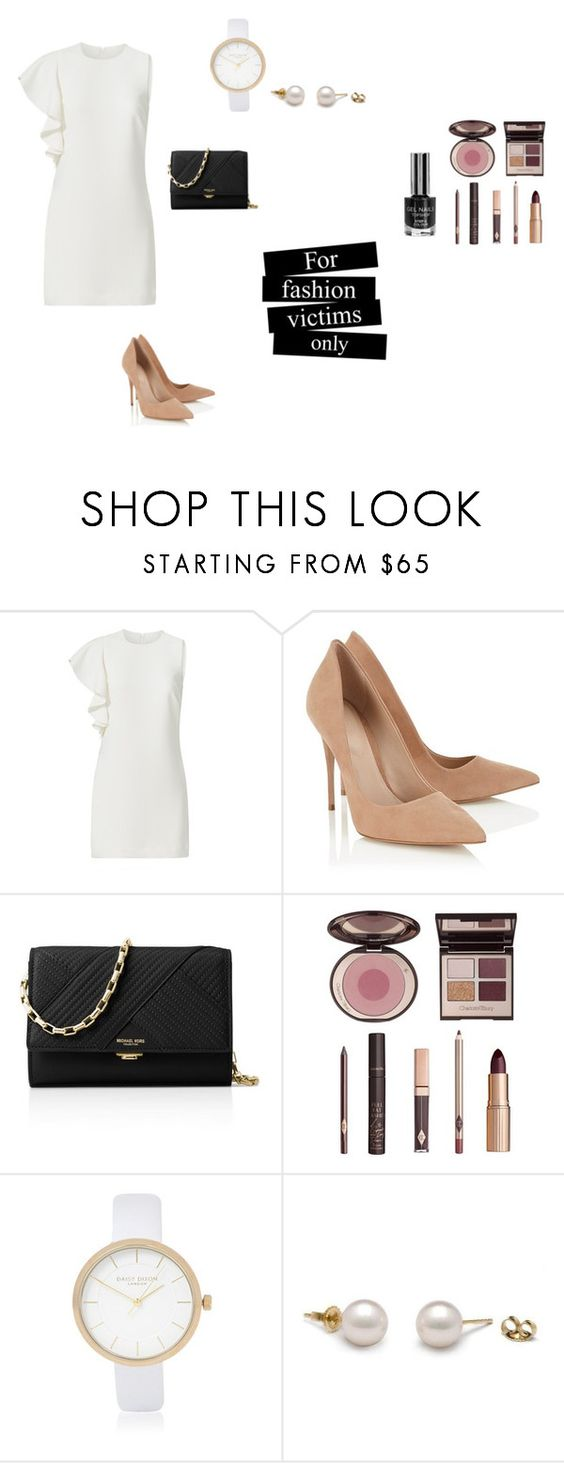 """""""Untitled #35"""" by hanechii ❤ liked on Polyvore featuring Elizabeth and James, Lipsy, Michael Kors, Charlotte Tilbury and River Island"""