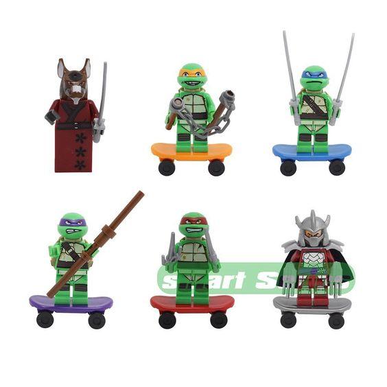 Perfect for xmas tmnt teenage mutant ninja turtles mini figure building blocks…