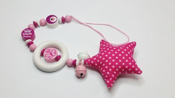 Babysafe Kette Kinderwagenkette rosa SB111 von myduttel auf DaWanda.com