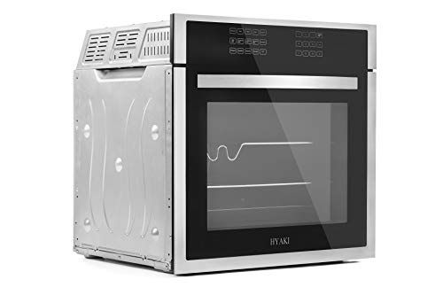 HYAKI 24 Black Tempered Glass LED Digital Touch Controls 12 Cooking Style W//Rotisserie Function Electric Built-In Single Wall Oven HYK-24WOX01