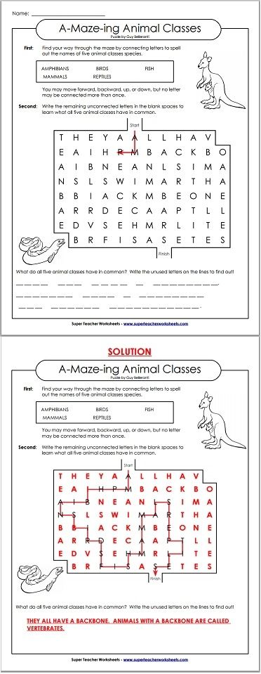 Secret Message Worksheets : Solve these word maze puzzles and discover a secret