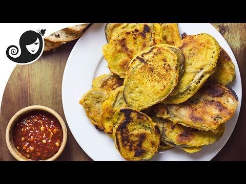 Eggplant Fritters (pan-fried, not deep fried) | Gluten-free + Vegan