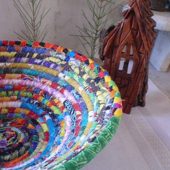 Gypsy - Round Coiled Bohemian Basket