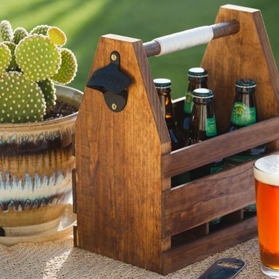 How to craft your own wood beer caddy pictures diy wood for How to craft your own beer