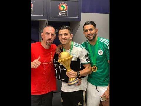 صور جميع لاعبي المنتخب الجزائري مع كأس افريقيا 2019 لحضات لا تنسا Youtube Christmas Sweaters Sweaters Fashion