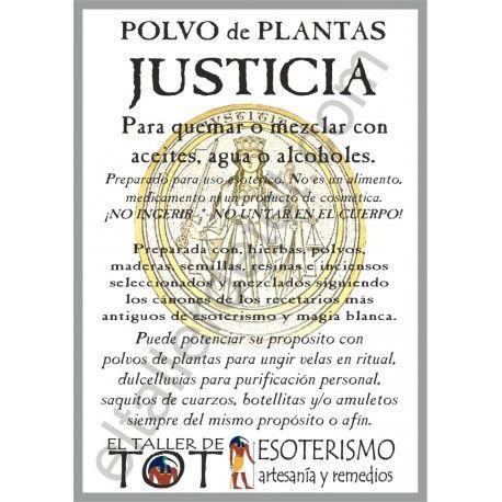 """POLVO de PLANTAS - """"JUSTICIA""""."""