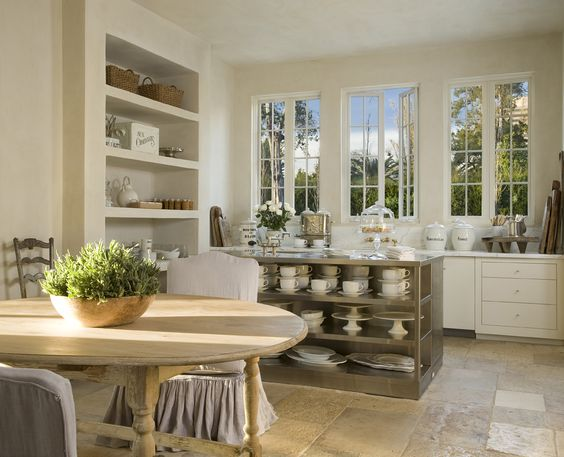 Breathtaking! Is it the most beautiful French Country kitchen of all time? Design by Pamela Pierce. Montrose - Reagan | Andre Architecture. #frenchcountry #frenchkitchen #kitchendesign #kitchendecor #europeancountry #countrydecor #limestone #Frenchantiques #whitekitchen #interiordesignideas #interiordecorating