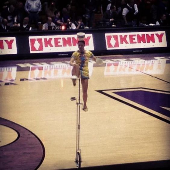 """February 4: This """"stranger"""" could flip bowls onto her head - all while on a unicycle. #FebPhotoADay"""