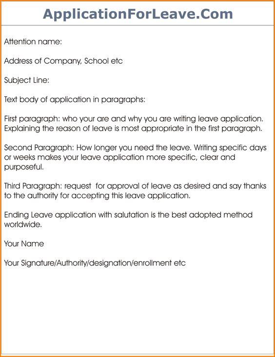 Format For Leave Application Formatg Letter Related Keywords Amp