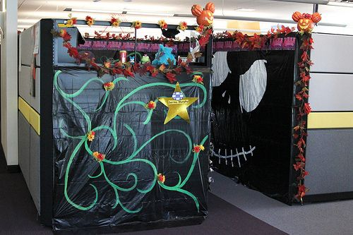 decorated cubicles for halloween halloween