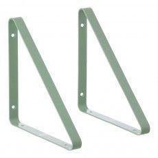 Support d'étagère - Set de 2 Vert amande