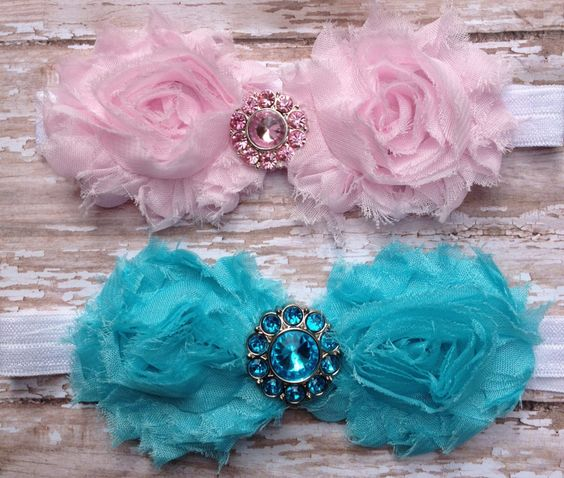 Baby Headband...You Design... You choose.... Shabby Chic Collection...YOur Choice of Headband....Newborn Collection...Headband Collection. $8.00, via Etsy.