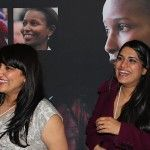 Jasvinder and Natasha Sanghera enjoying the AHA Foundation's cocktail reception to celebrate International Women's Day and the launch of our HONOUR products!