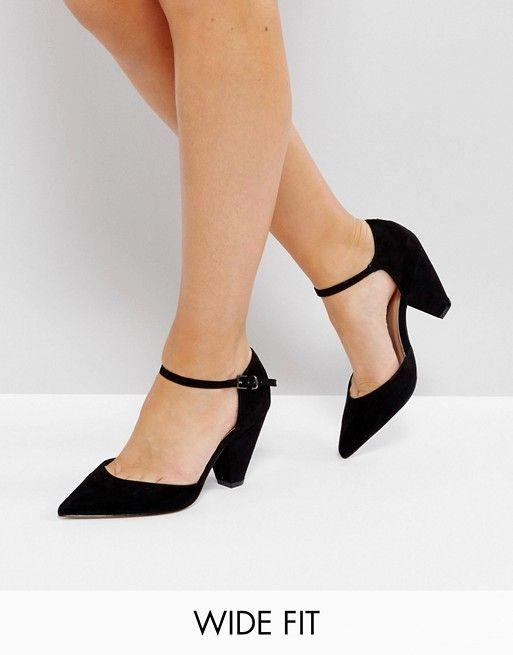 ASOS SPEAKER Wide Fit Pointed Heels