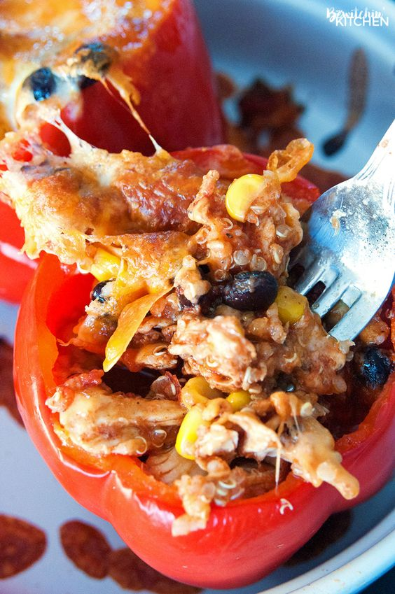 Chicken stuffed peppers, Southwestern chicken and Stuffed peppers on ...