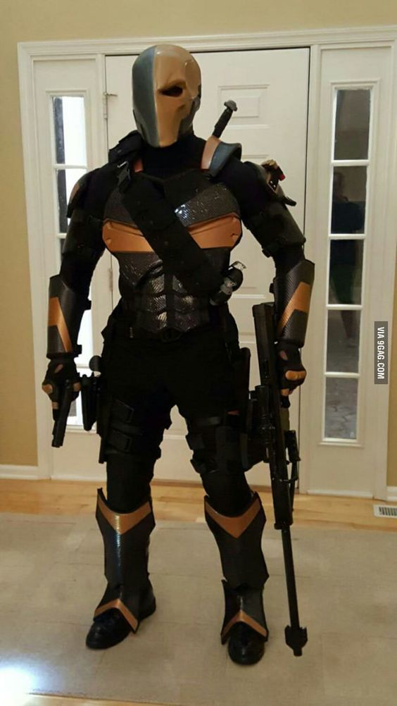 deathstroke armor template - i made a full set of deathstroke armor with actual kevlar