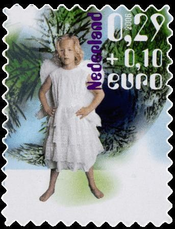 Stamp: Child dressed up as angel (Netherlands) (Charity Stamps) Mi:NL…