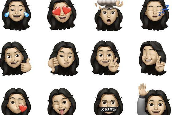 Con La Nueva Actualizacion De Ios Puedes Convertir Tu Cara En Un Emoji Los Memojis Son Avatares Con Tu Rostro Que Podras Usar En What Kartun Animasi Seni Buku