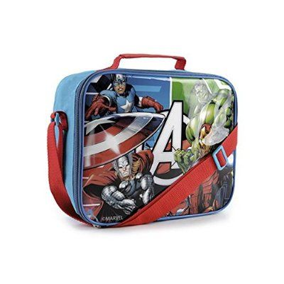 Marvel Avengers Childrens/Boys Insulated Lunch Bag (One Size) (Blue/Red)