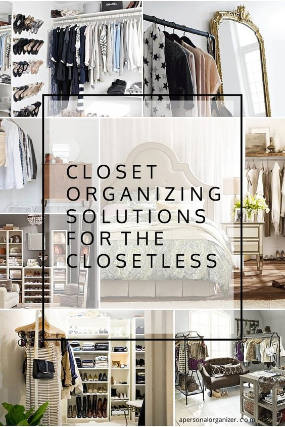 Closet organizing ideas the no closet solution organize No closet hanging solutions