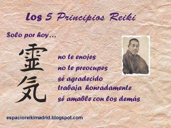 Reiki, los 5 Principios.