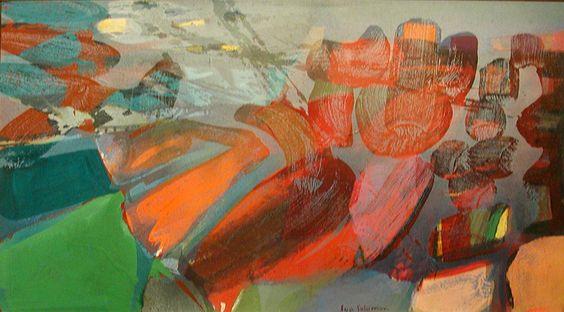 Longscape, 1979, Acrylic and aerosol enamel on canvas, 20x36, Syd Solomon