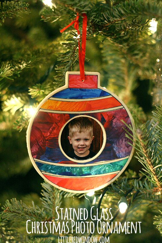 A great gift for a grandparent! A Christmas ornament made by their favorite grandchild, featuring..... their favorite grandchild!!