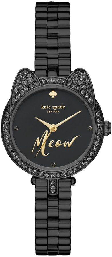 Kate Spade New York 'metro - Mini Cat' Crystal Case Watch, 26mm
