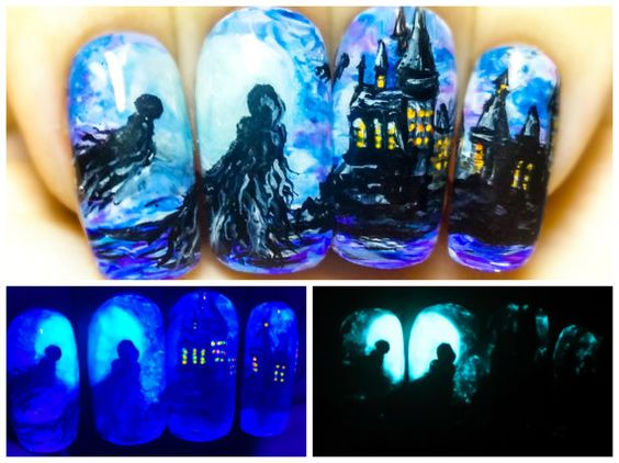 Dementors in Hogwarts. Harry Potter Glow in the Dark di StarryNail