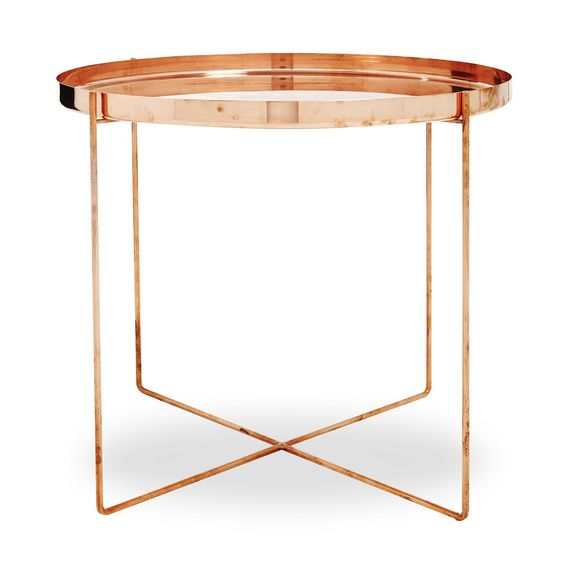 copper side table, See more Copper inspirations at http://www.brabbu.com/en/inspiration-and-ideas/ #CopperLighting #CopperDesign #CopperDecoration