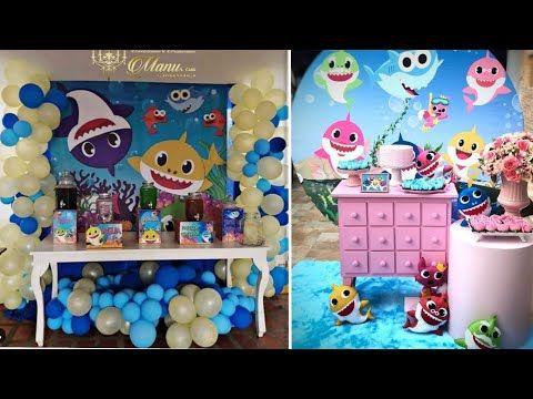 Baby Shark Party Ideas For Birthday 2 بيبي شارك حفلات اعياد ميلاد توائم بيبي شارك Youtube Baby Shark Shark Baby