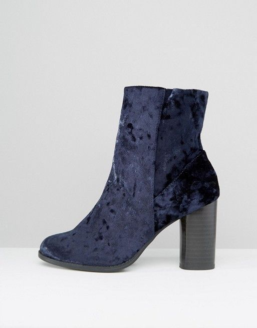 New Look | New Look Velvet High Ankle Boots