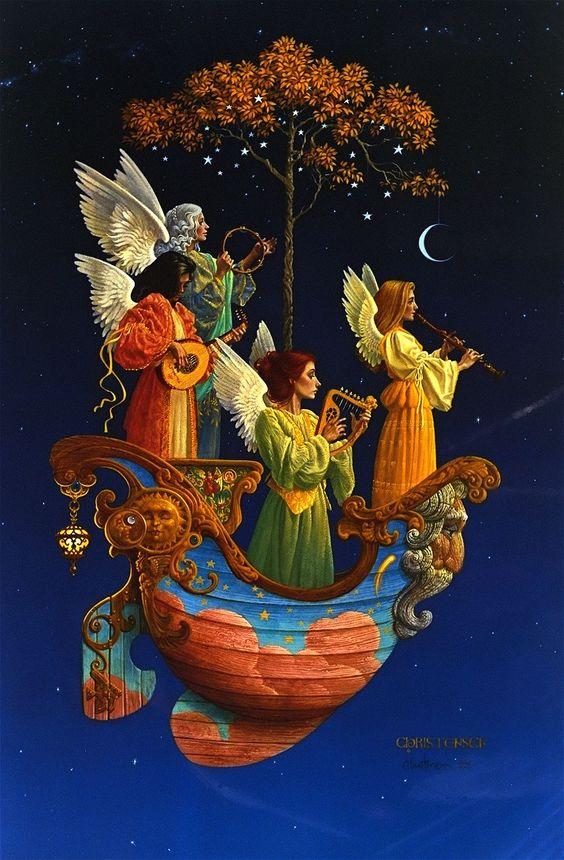 James C. Christensen - Evening Angels: