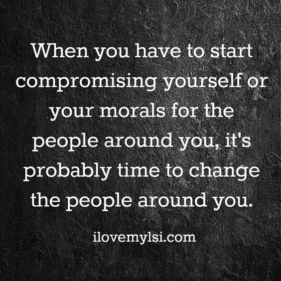 Compromising your morals