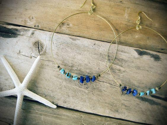 Ocean Ombre Turquoise Magnesite & Lapis Lazuli by KittyLovesLou